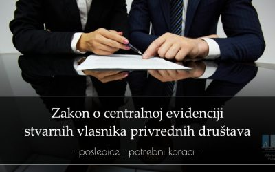 Zakon o centralnoj evidenciji stvarnih vlasnika privrednih društava